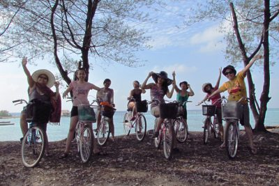 Cycling in Pari island 400x267 Trip to Pari Island   Thousand Islands   Jakarta