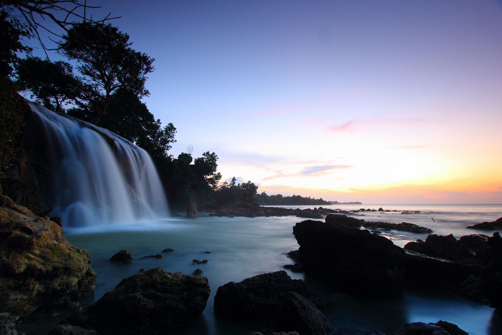 Sunset di Air terjun Toroan Sampang