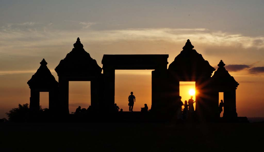 Sunset in Ratu Boko
