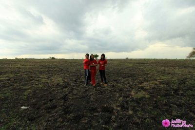 Three angaels of Keliling Nusantara where in Savana Baluran