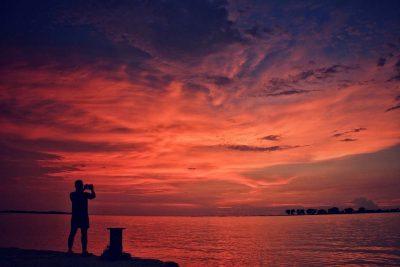 Sunset di dermaga Pulau Pramuka