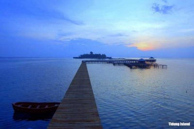The bridge of Love at Tidung island