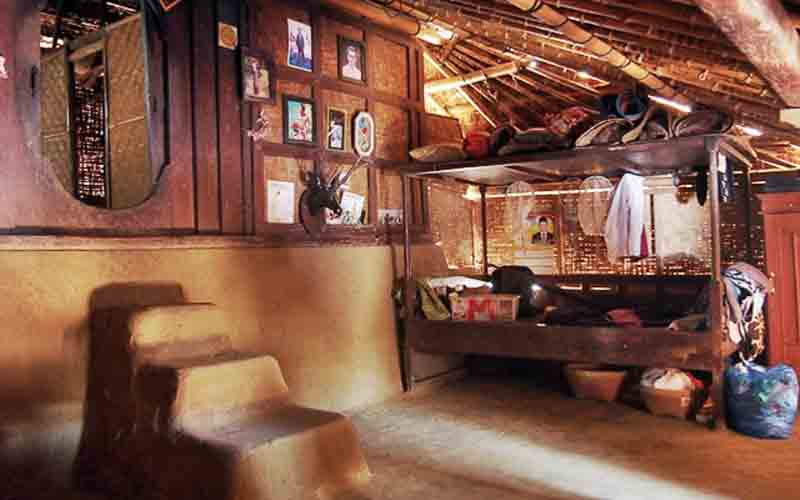 Inside the traditional house of Sasak