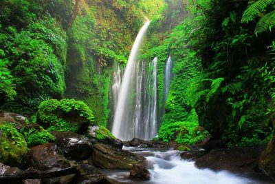 Tiu Kelep waterfall Senaru 400x267 Discovering the Most Exotic Lombok Island   Indonesia